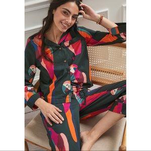 Anthropologie Farm Rio Macaw Pajama Set